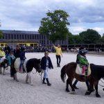 Schnupper-Kurzreiten für kleine Pferdefreunde am Tag der offenen Tür beim KJRFV Zehlendorf e.V.